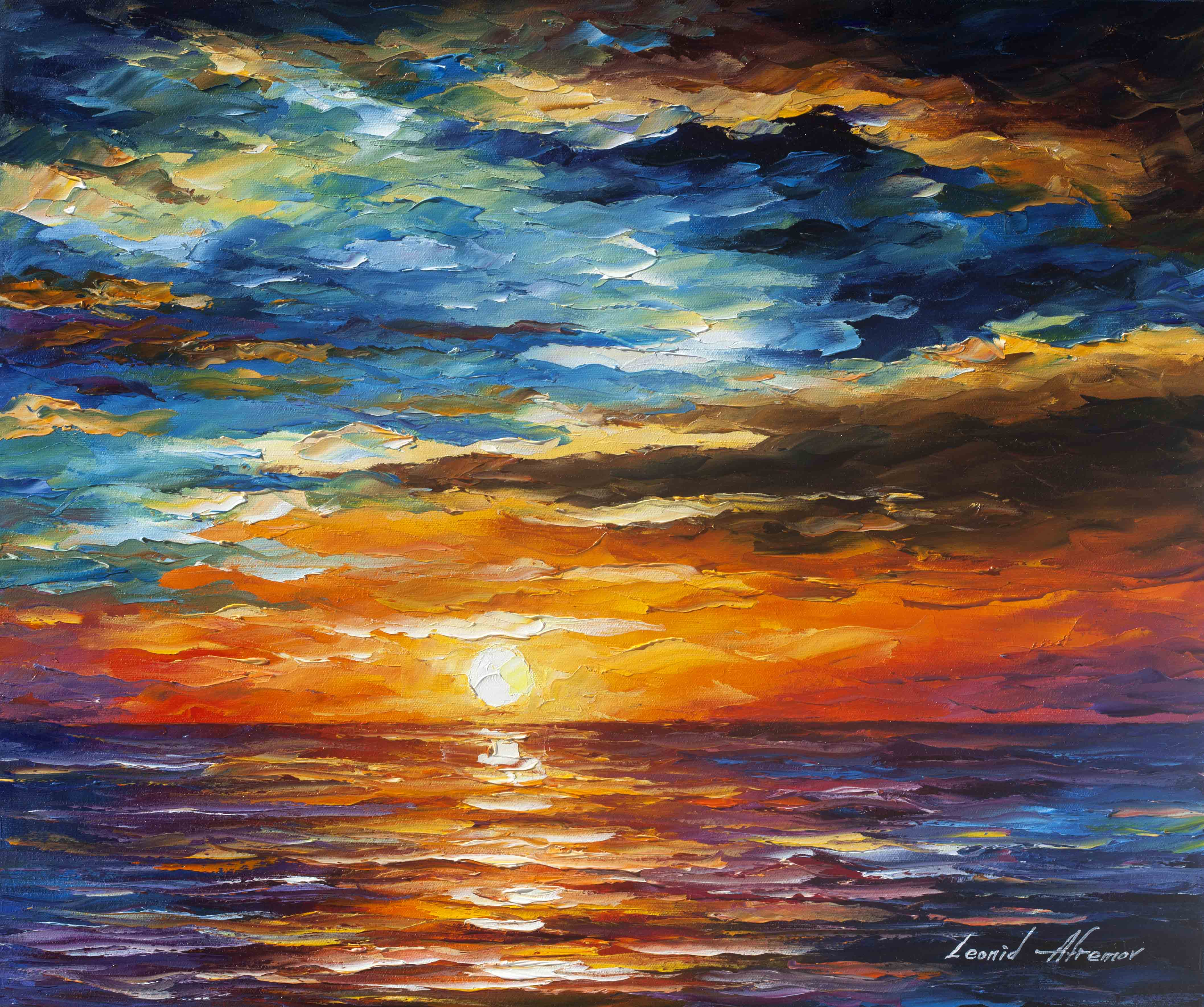 Dream Clouds Palette Knife Oil Painting On Canvas By Leonid Afremov 24 X30 60cm X 75cm
