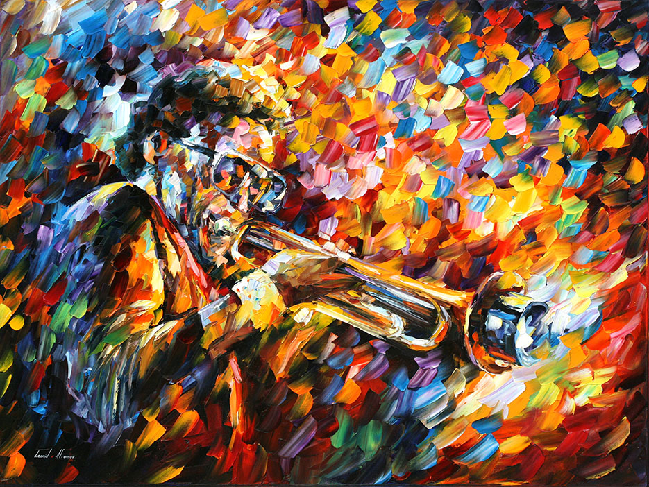 Miles Davis Palette Knife Oil Painting On Canvas By