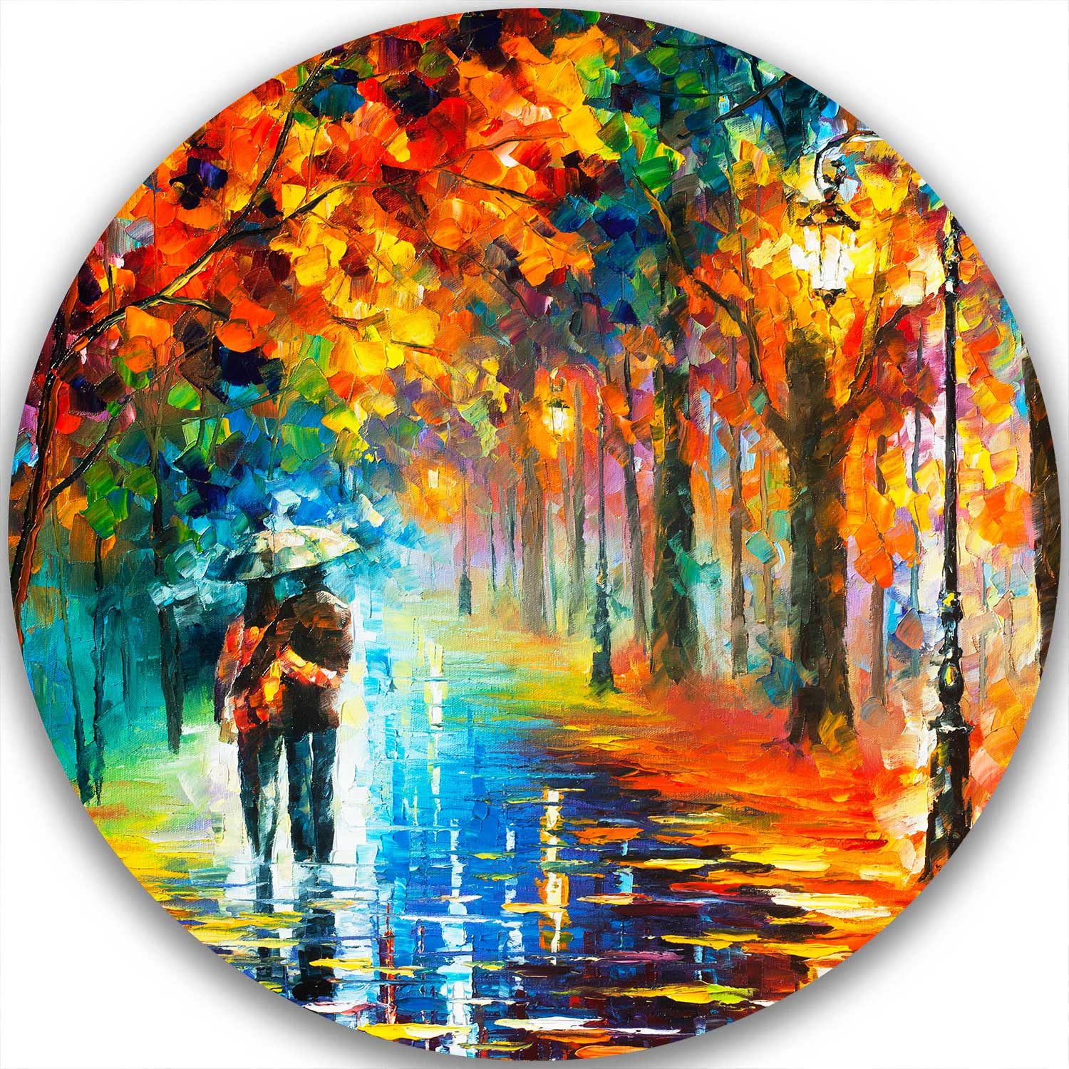 AUTUMN HUGS - LIMITED EDITION CIRCLE GICLEE