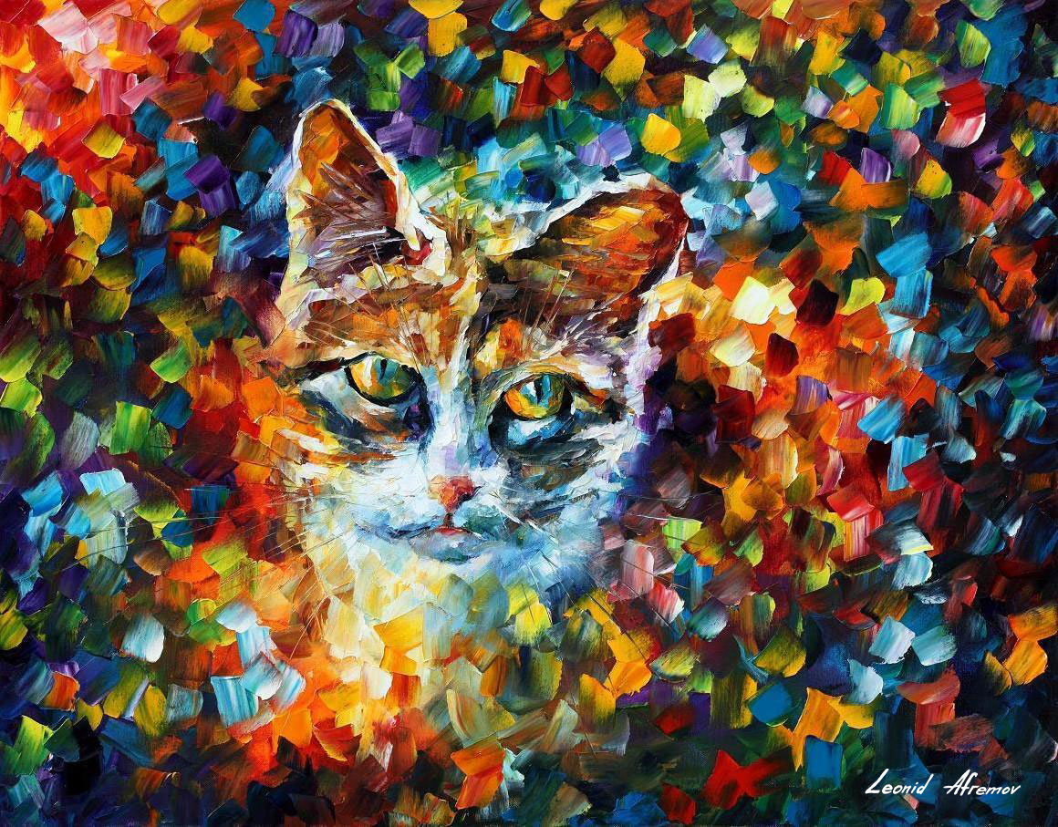 CHARMING — Palette knife Oil Painting on Canvas by Leonid ... - photo#21