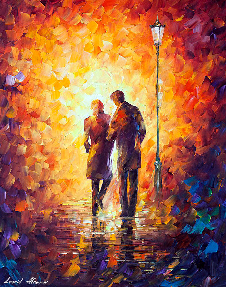come together 2 palette knife oil painting on canvas by