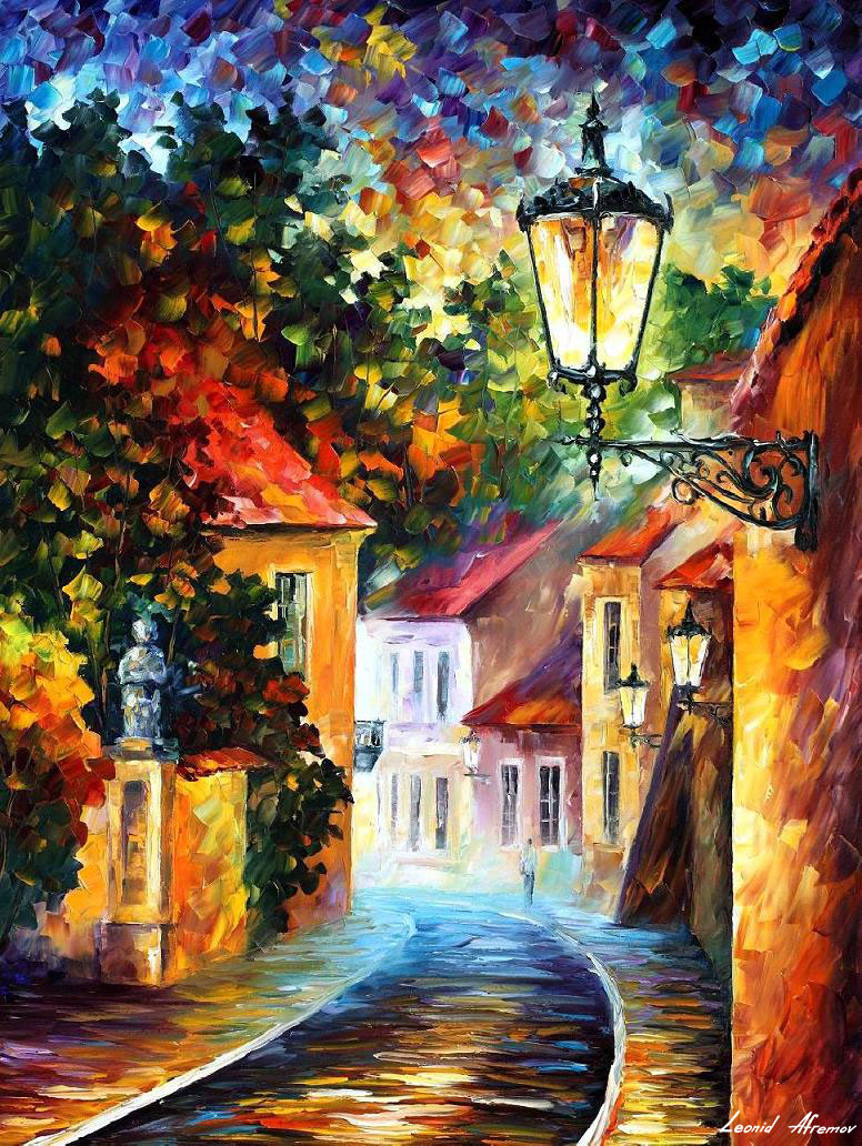 Evening palette knife oil painting on canvas by leonid for Best canvas painting images
