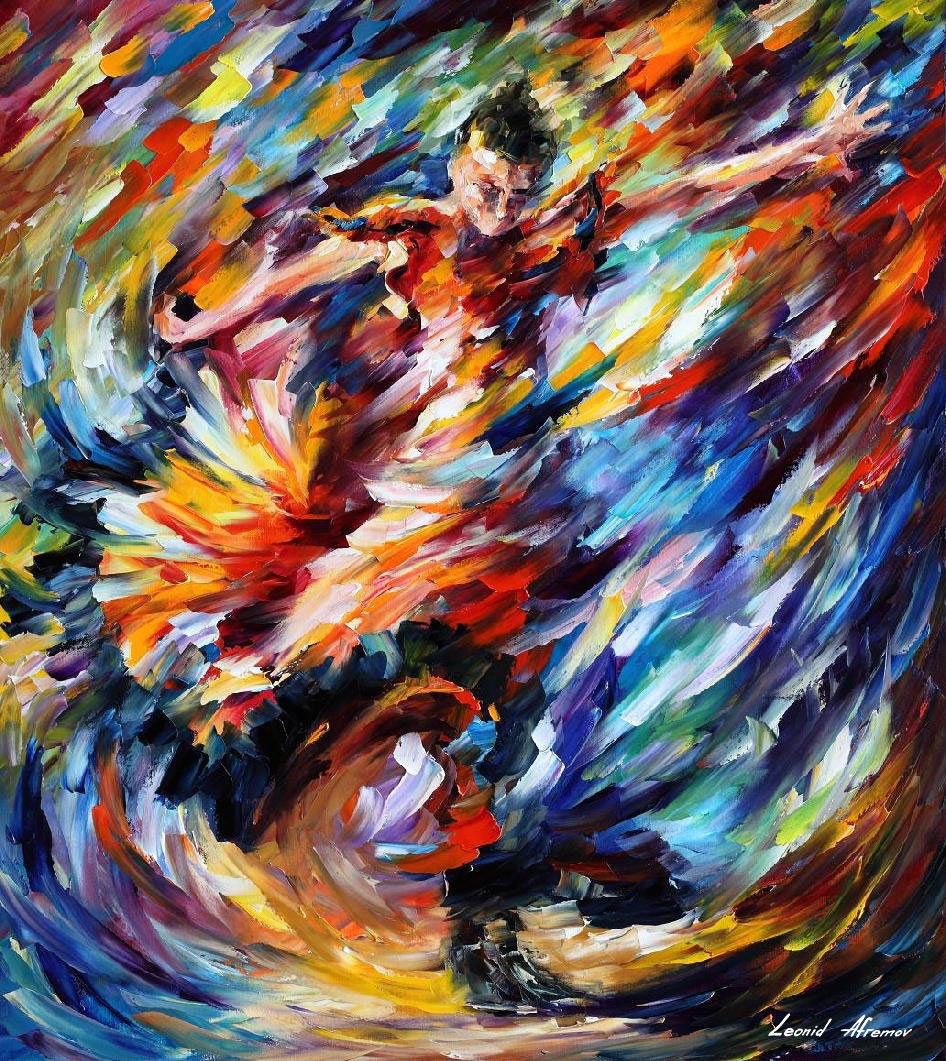 Dream-art oil painting portraits young people/'s party dancing hand painted art