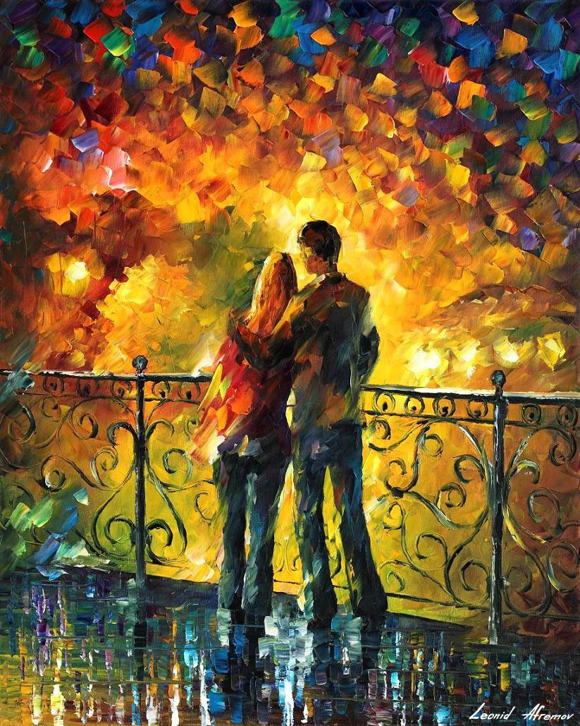 LAST DATE — PALETTE KNIFE Oil Painting On Canvas By Leonid Afremov ...