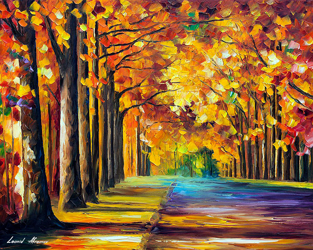 OAK ALLEY 3 — PALETTE KNIFE Oil Painting On Canvas By ...