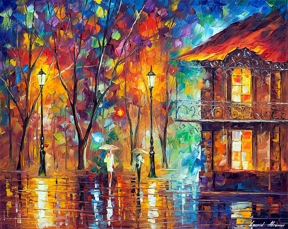 RAIN ENERGY — PALETTE KNIFE Oil Painting On Canvas By ...
