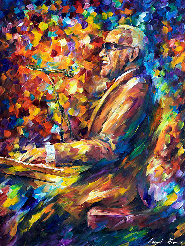 Cut Away Over the Moon, Palette Knife Guitar Painting by