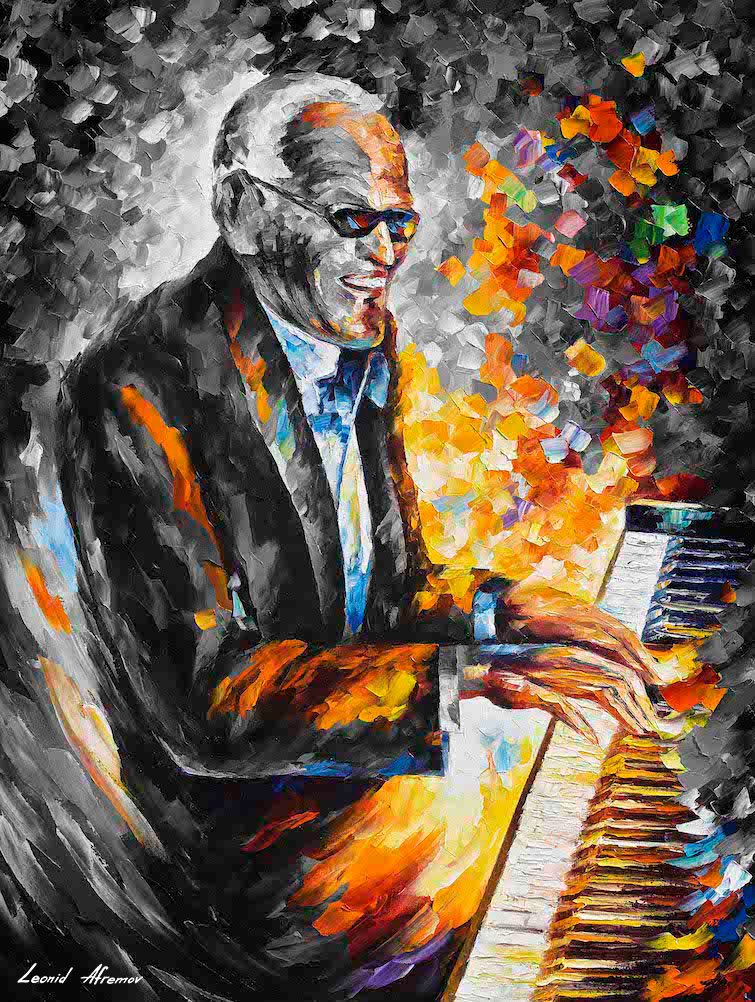 RAY CHARLES, JAZZ B&W