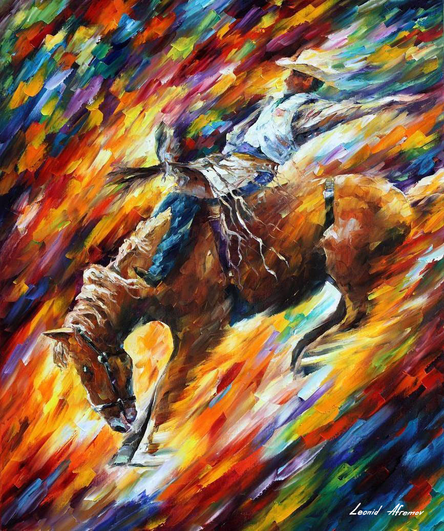 RODEO DANGEROUS GAMES — oil painting on canvas