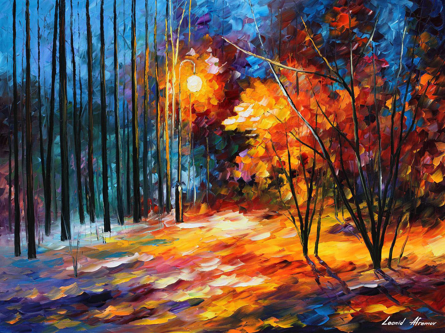 Shadows on snow palette knife oil painting on canvas by for Best painting images