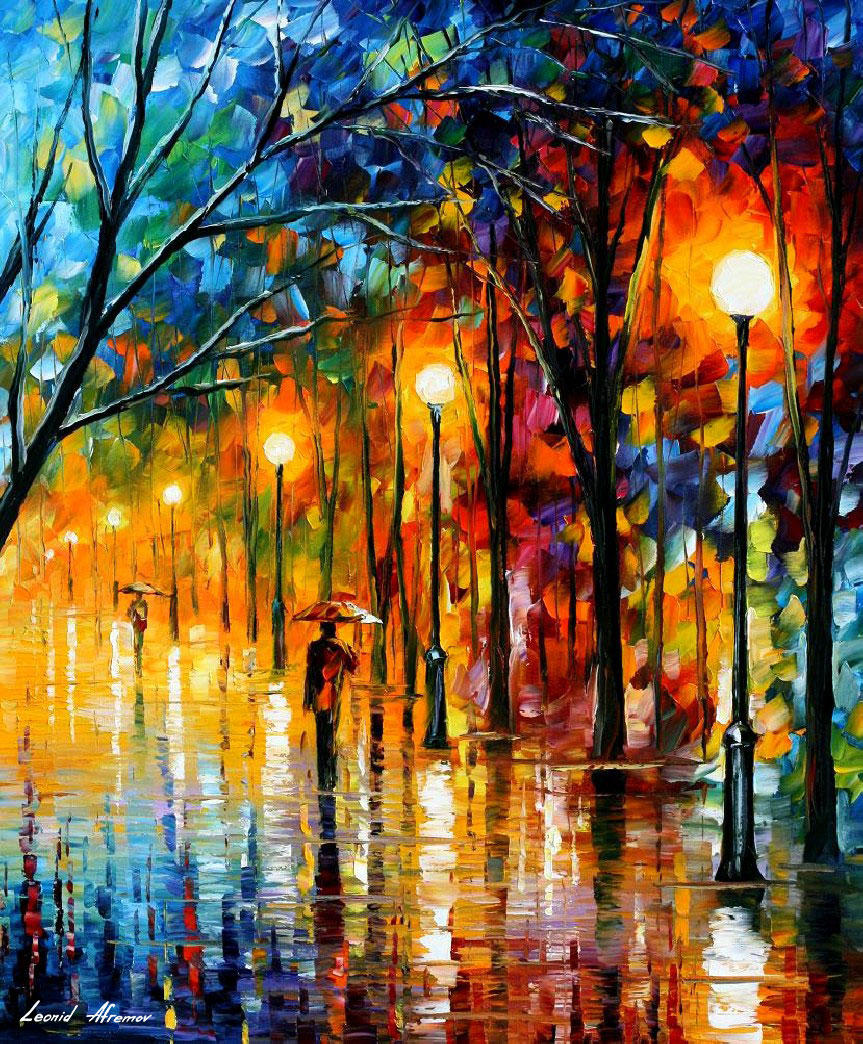 THE COLORS OF WINTER — PALETTE KNIFE Oil Painting On ...