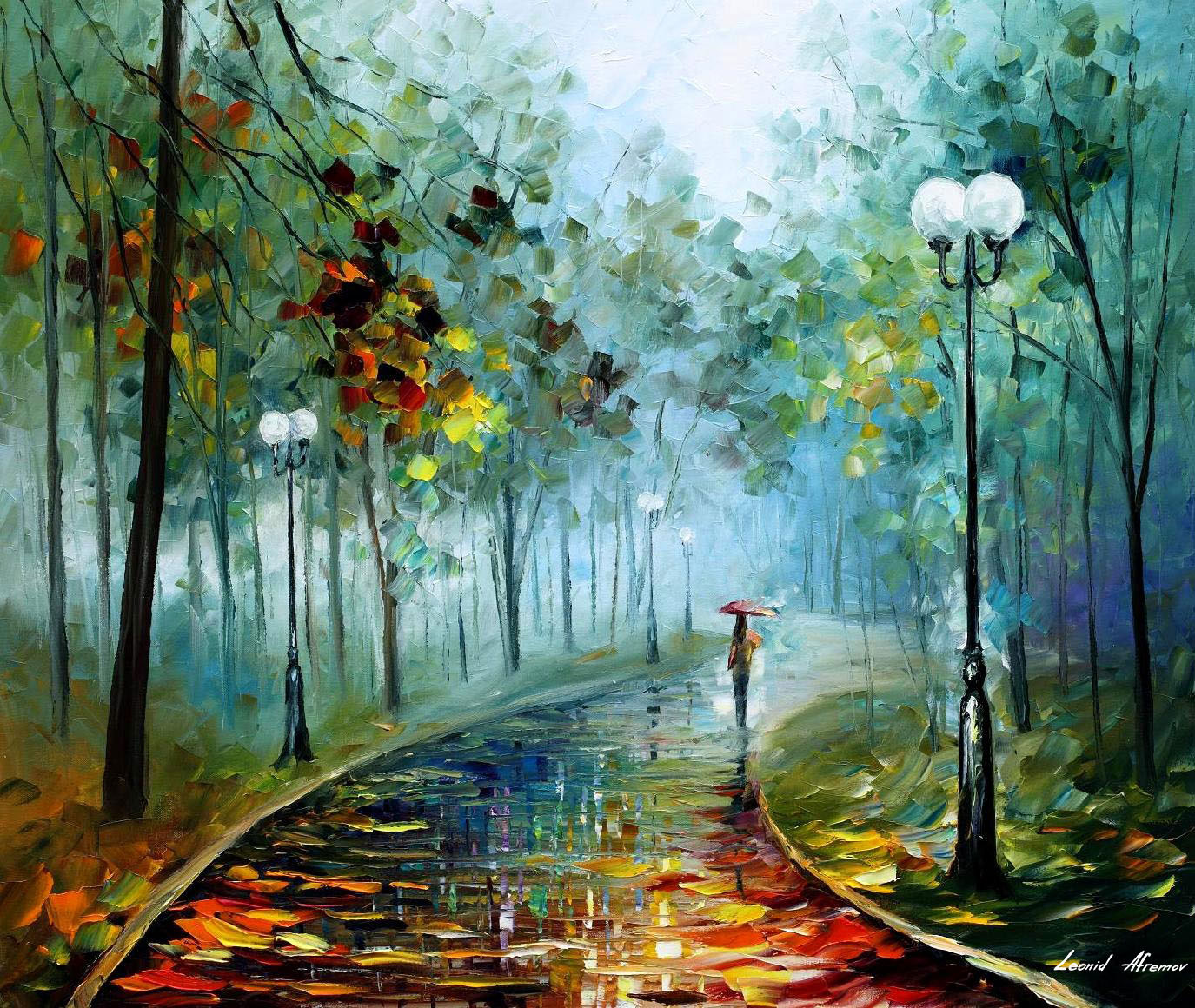 leonid afremov oil on canvas palette knife buy original paintings