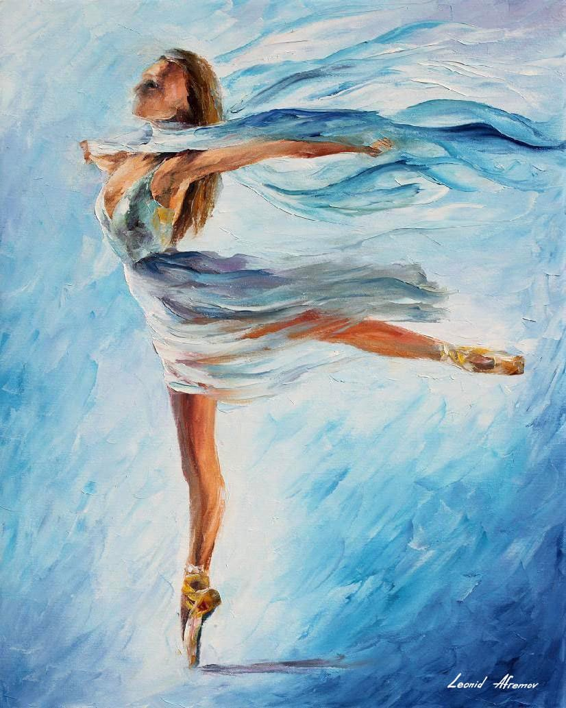 The Beautiful Sky Dance Oil Painting From Artist