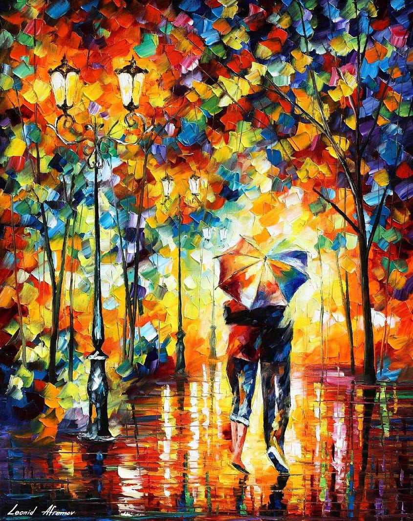 COUPLE UNDER ONE UMBRELLA