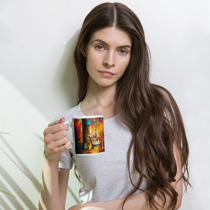 Coffee Mug with print of the painting Colorful Night