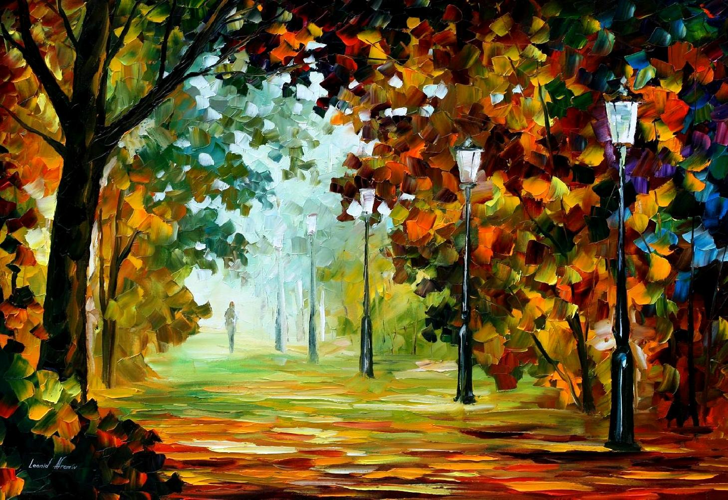Morning Light 2 Palette Knife Oil Painting On Canvas By