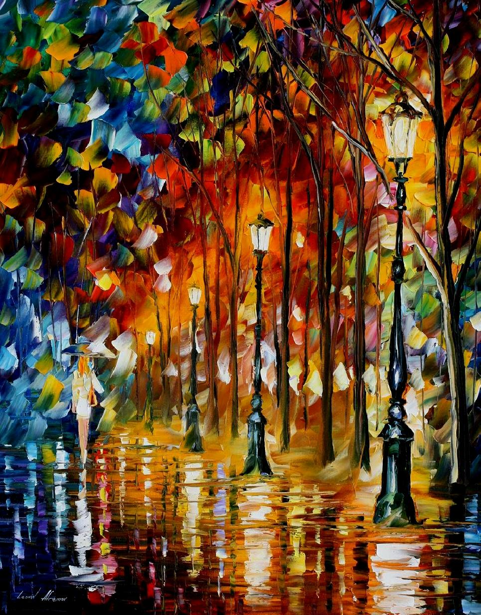 Famous Line Art Paintings : Leonid afremov oil on canvas palette knife buy original