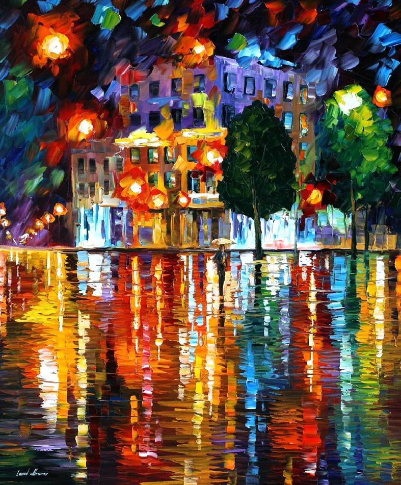 LOST SQUARE Wall Art Decor PALETTE KNIFE Oil Painting On