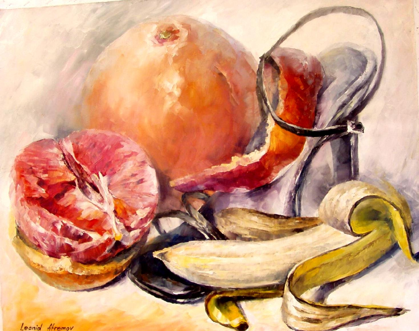 Fruit Cocktail Oil Painting On Canvas