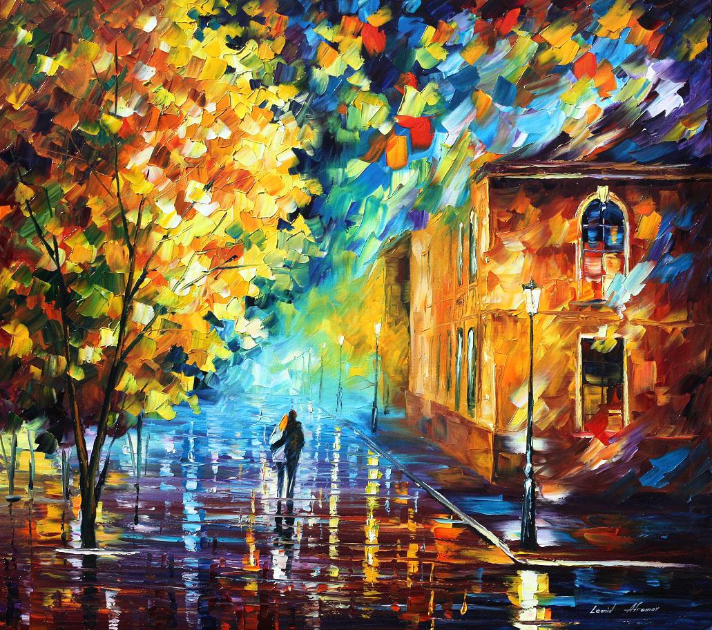 Painting: PALETTE KNIFE Oil Painting On Canvas By