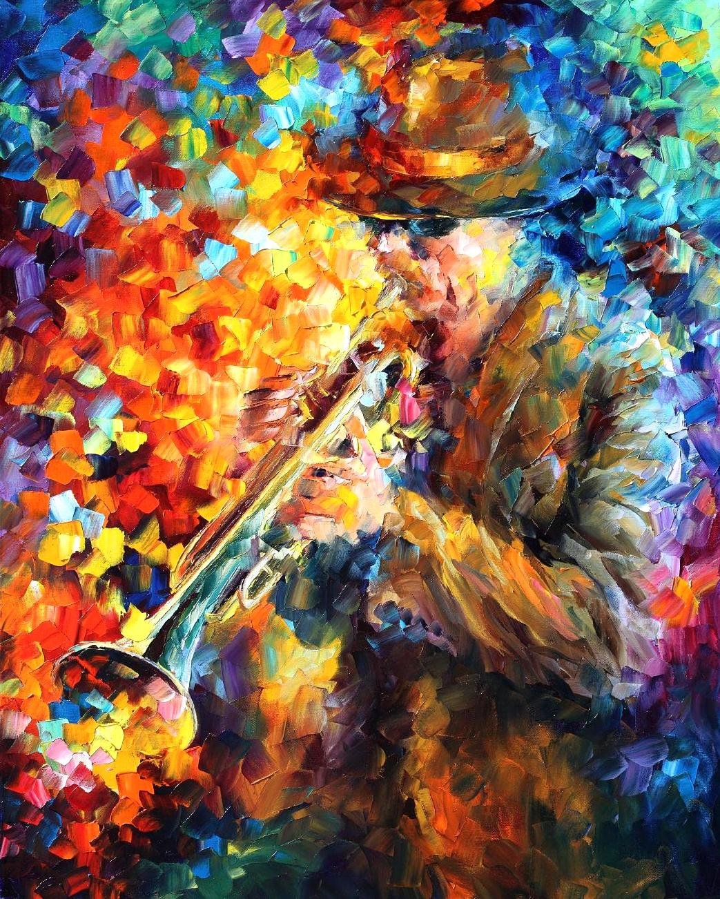"ELEGANT SOUND - Palette Knife Oil Painting On Canvas By Leonid Afremov - 24""X30"""