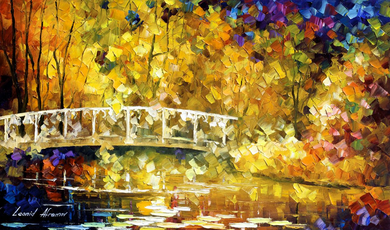 "REALISTIC MAGIC - Original Oil Painting On Canvas By Leonid Afremov - 25""x15"""