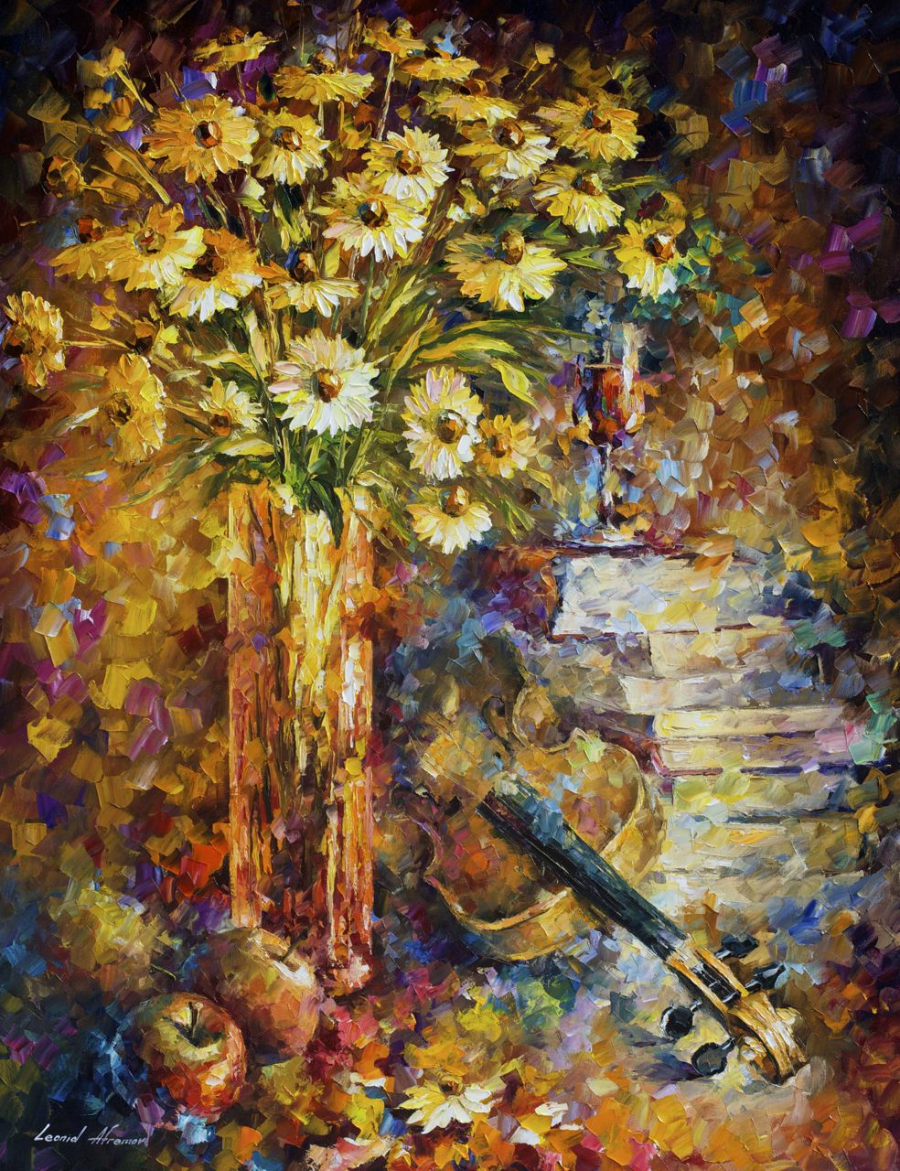 "THE RHYTHM OF THOUGHTS - Original Oil Painting On Canvas By Leonid Afremov - 30""X40"""