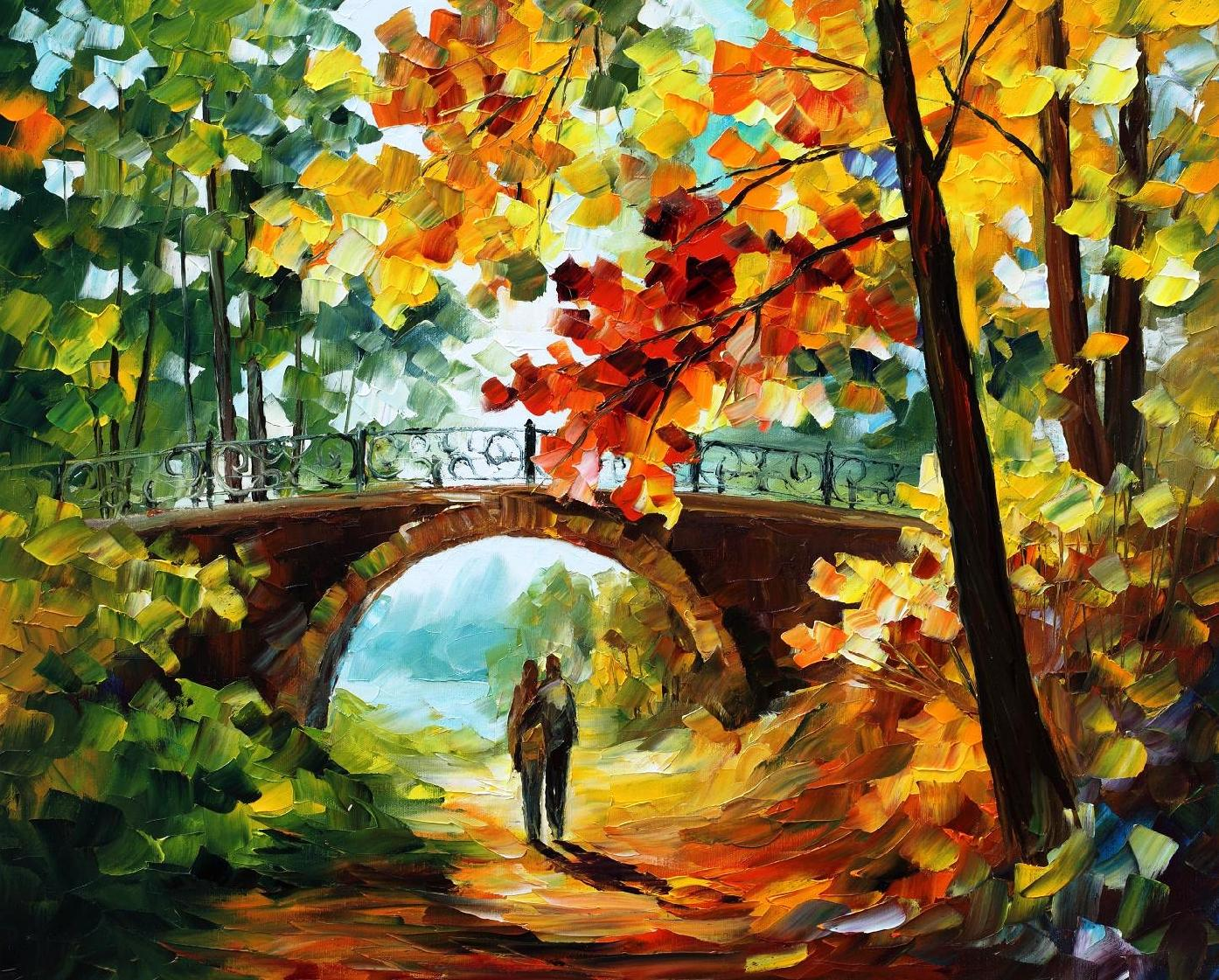 Forgotten dreams palette knife oil painting on canvas by for Spring canvas paintings