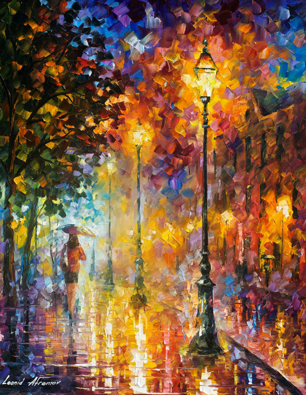 "DREAM ON - PALETTE KNIFE Oil Painting On Canvas By Leonid Afremov - Size 24""x30"""