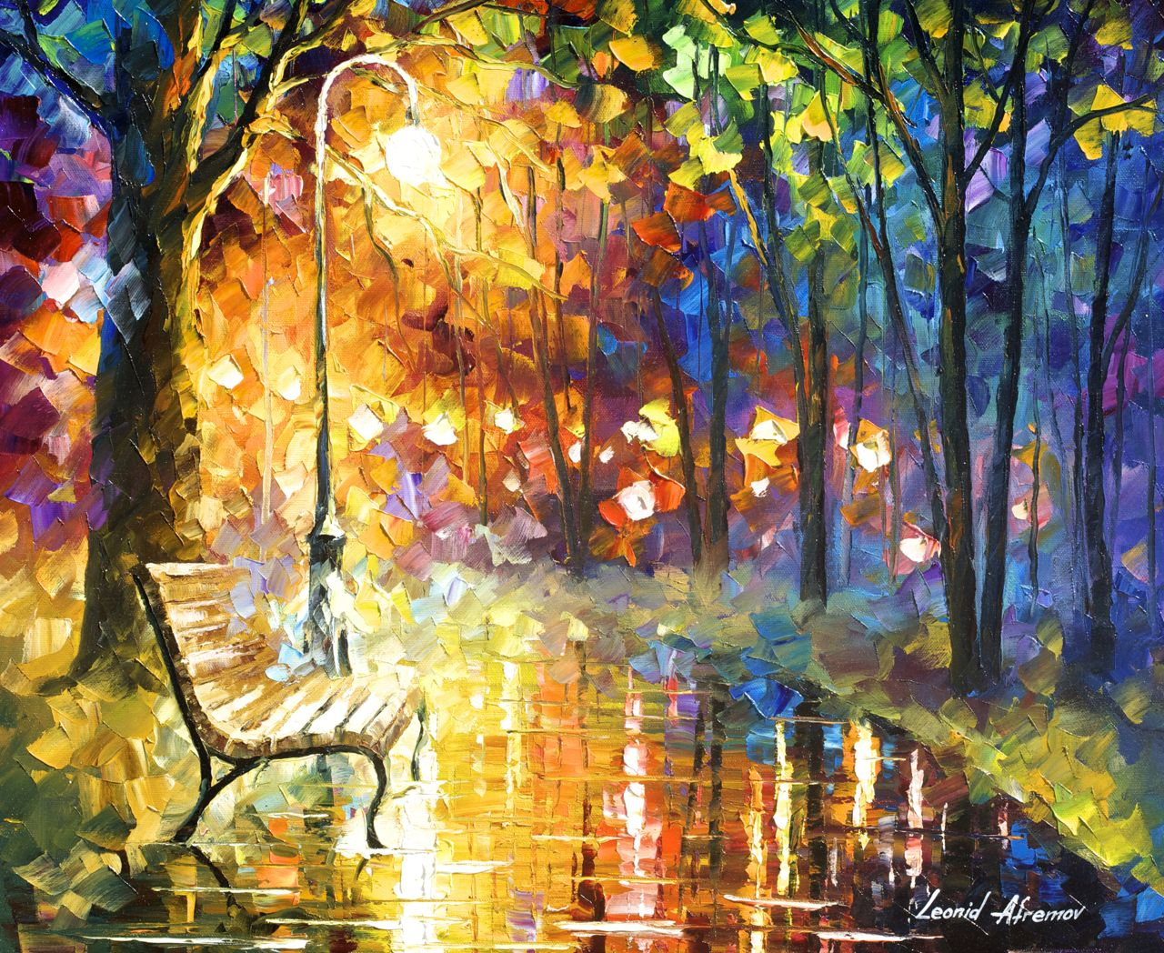 "UNRESOLVED FEELINGS - Original Oil Painting On Canvas By Leonid Afremov - 24""X20"""