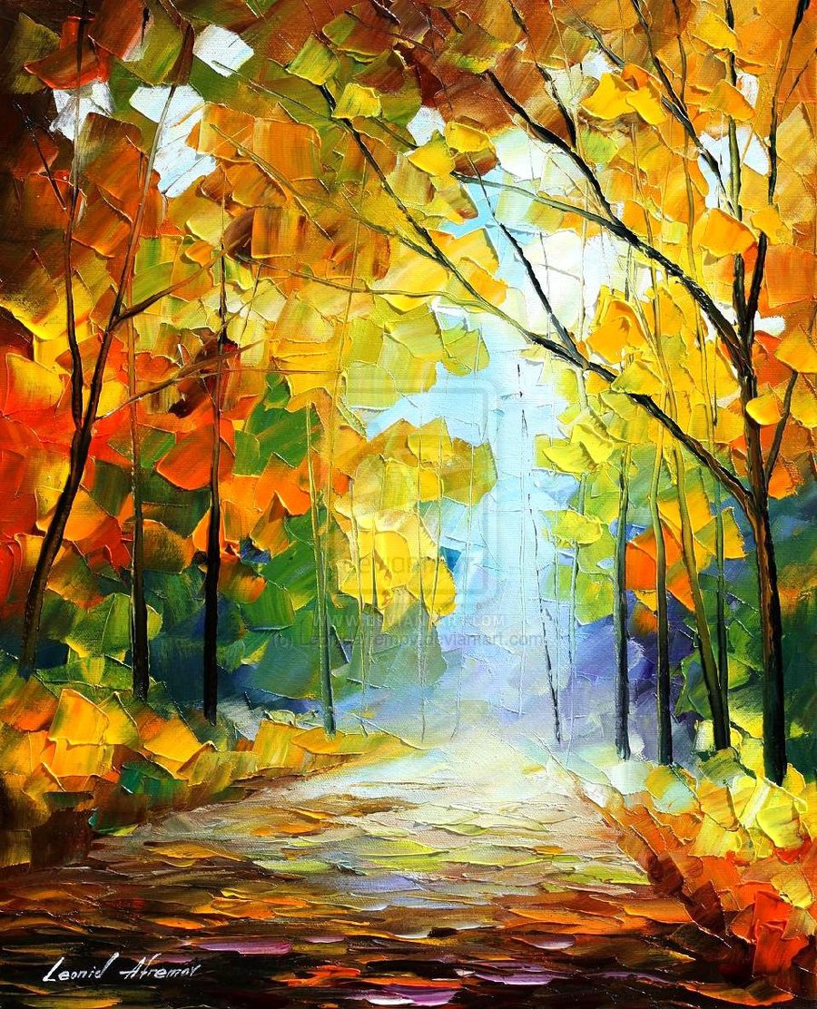 "THE PATHWAY TO HEAVEN AFREMOV-  Oil Painting On Canvas By Leonid Afremov - 20""x24"""