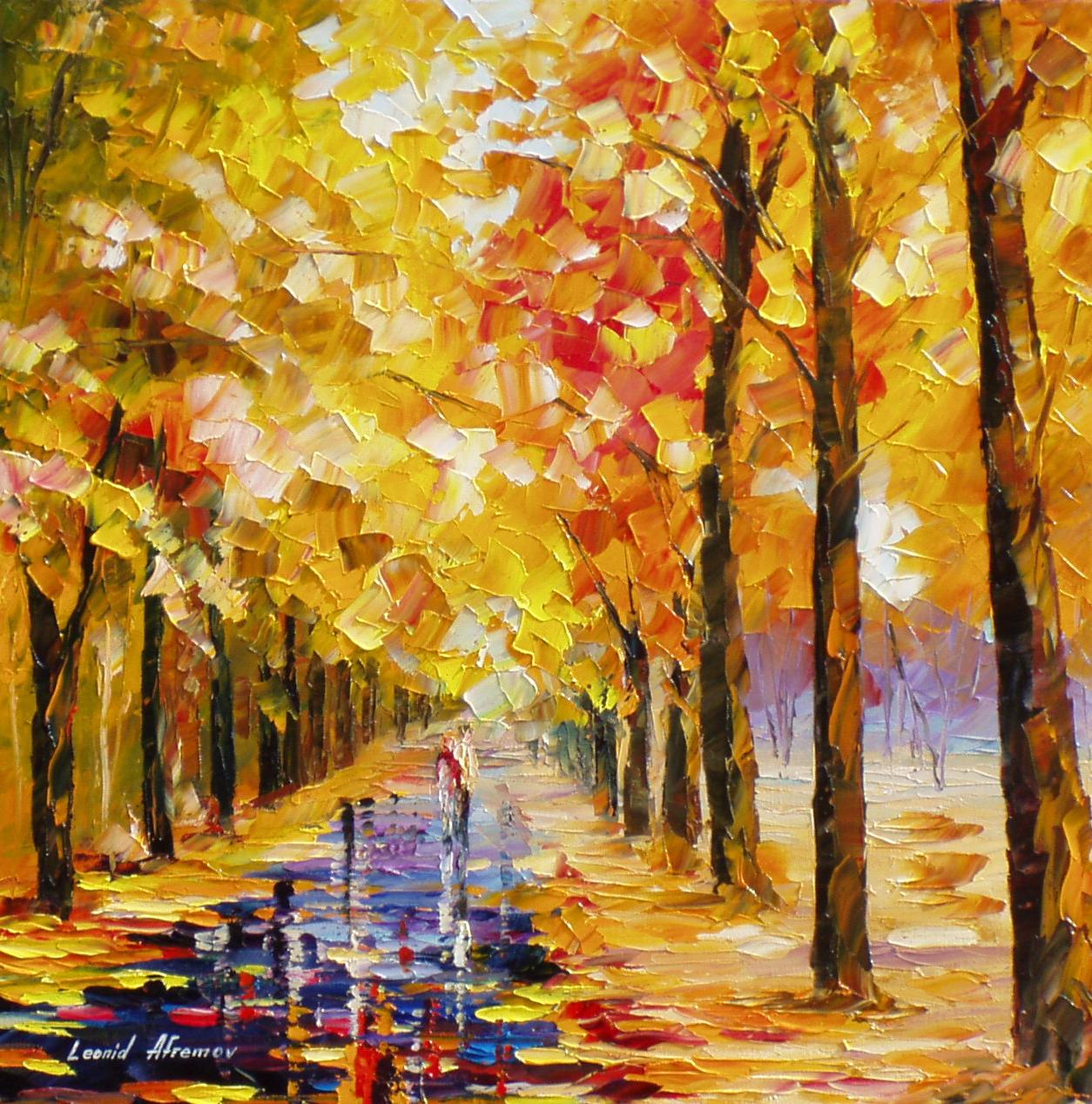 YELLOW-IN-LOVE— PALETTE KNIFE Oil Painting On Canvas By Leonid ...