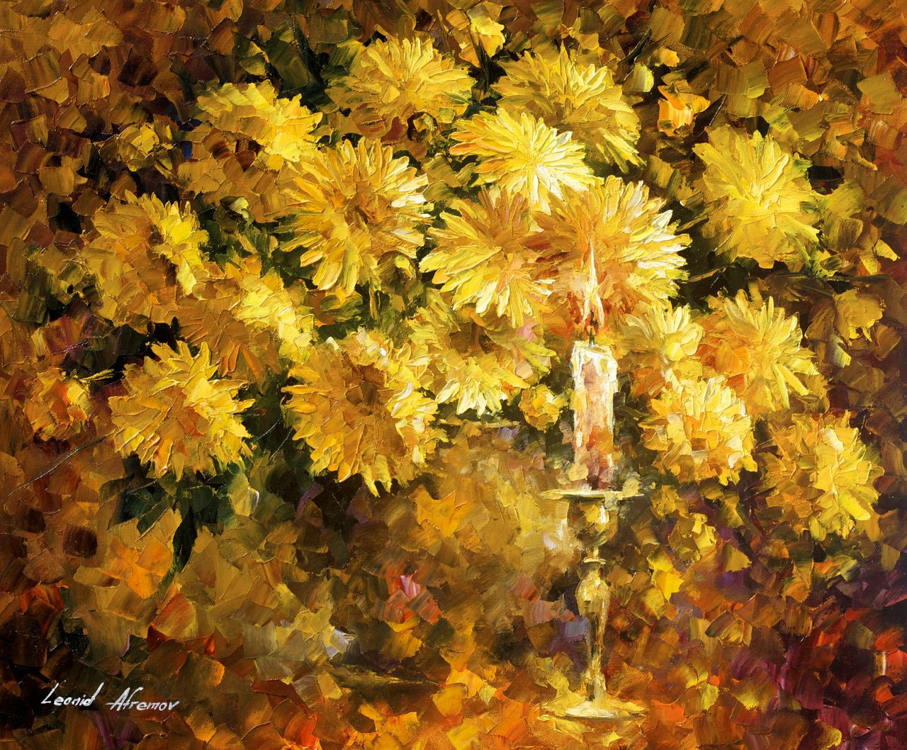 CANDLE OF REASON - Palette knife Oil Painting - Wall Art Canvas By ...