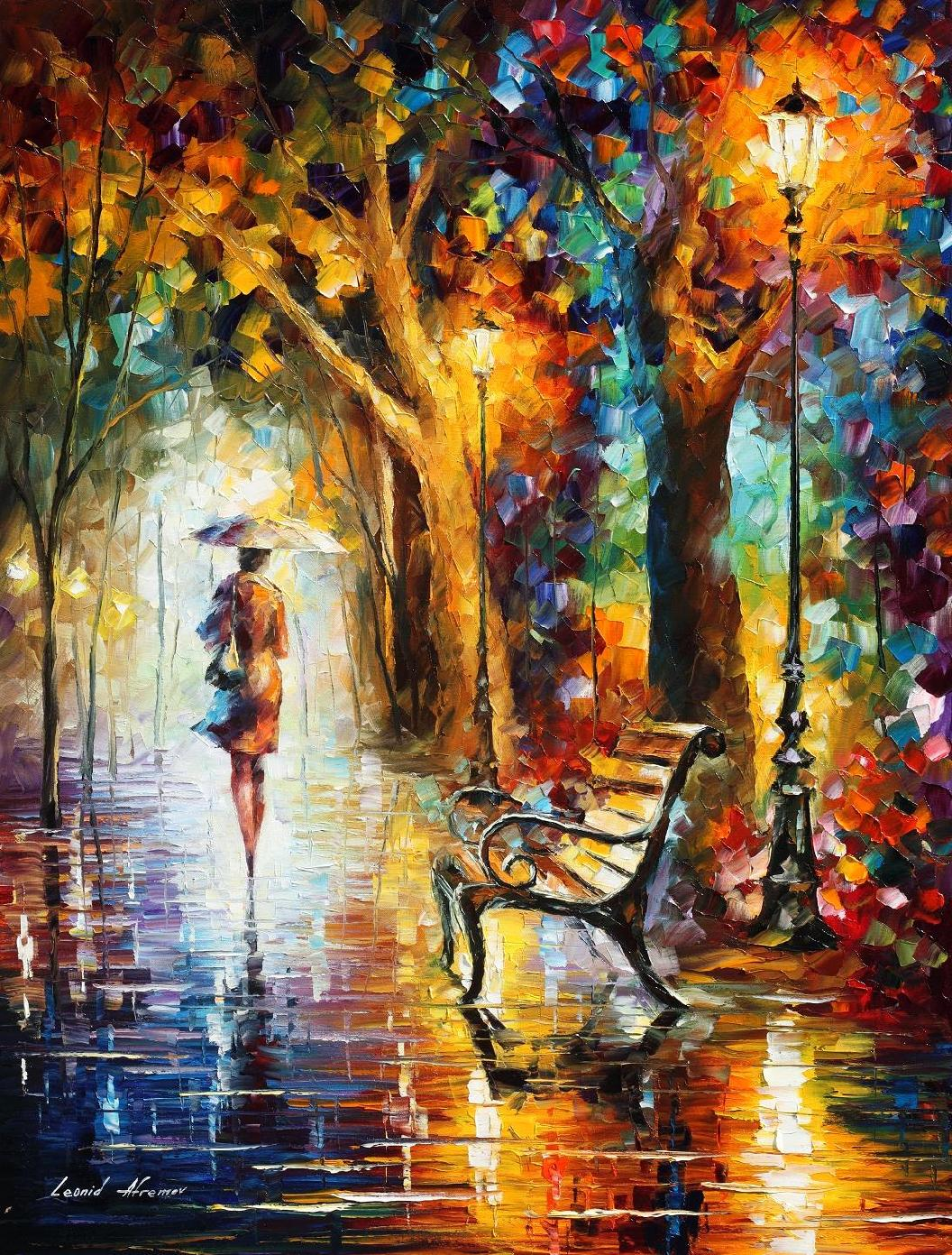 "THE END OF PATIENCE  — Original  Limited edition Oil Painting On Canvas By Leonid Afremov - Size 30""x40"""