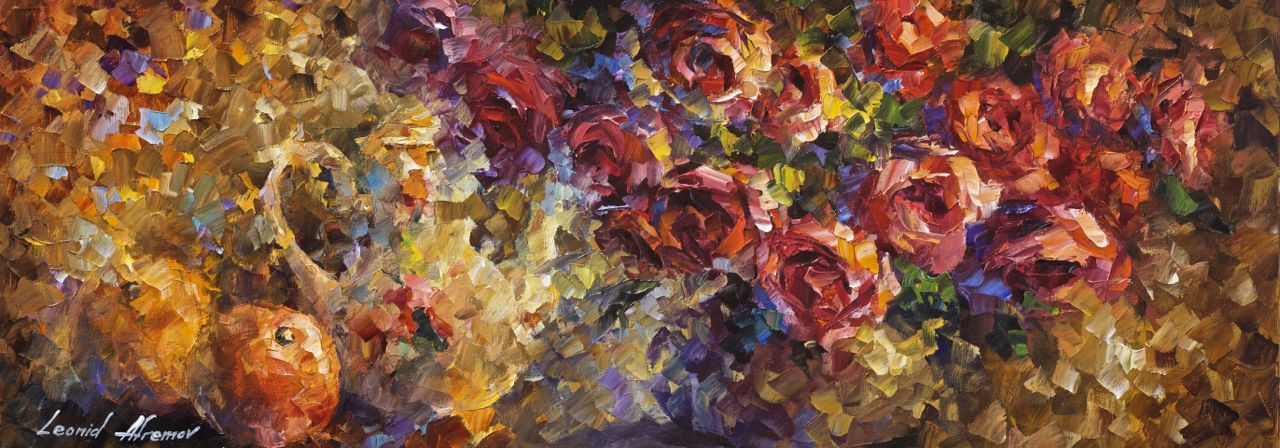 Dreaming Roses Original Oil Painting On Canvas By Leonid Afremov