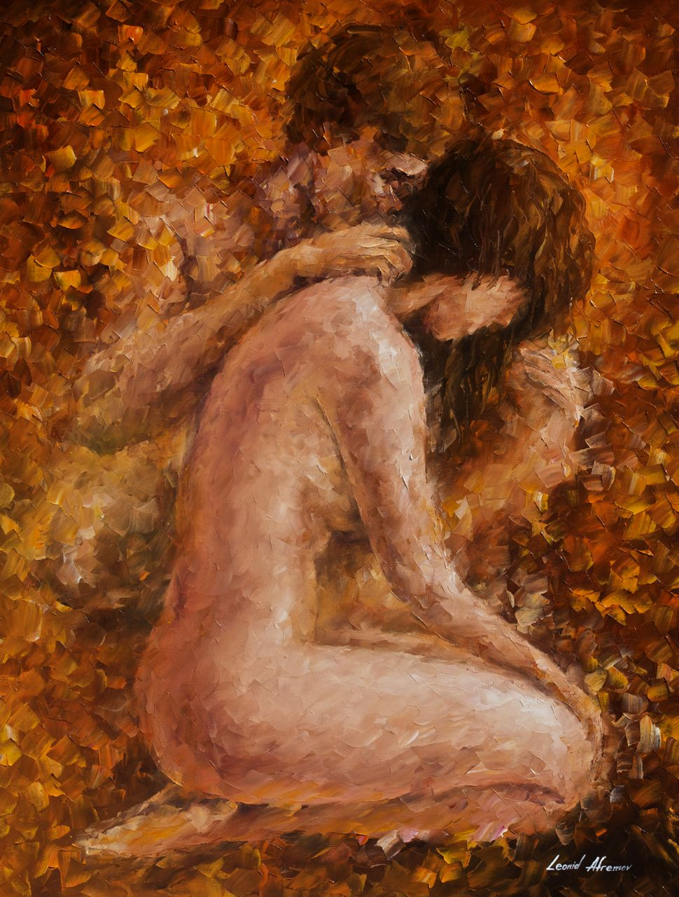 Words... bing bare naked couple art panting any