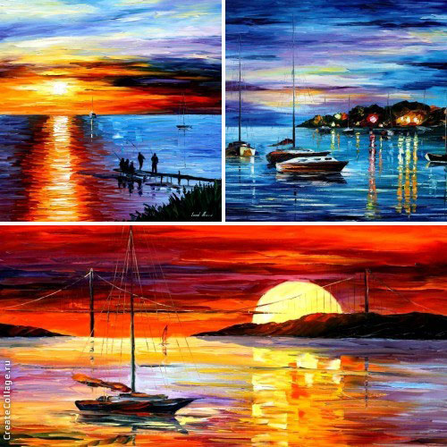 My 3 most seascape favorite paintings