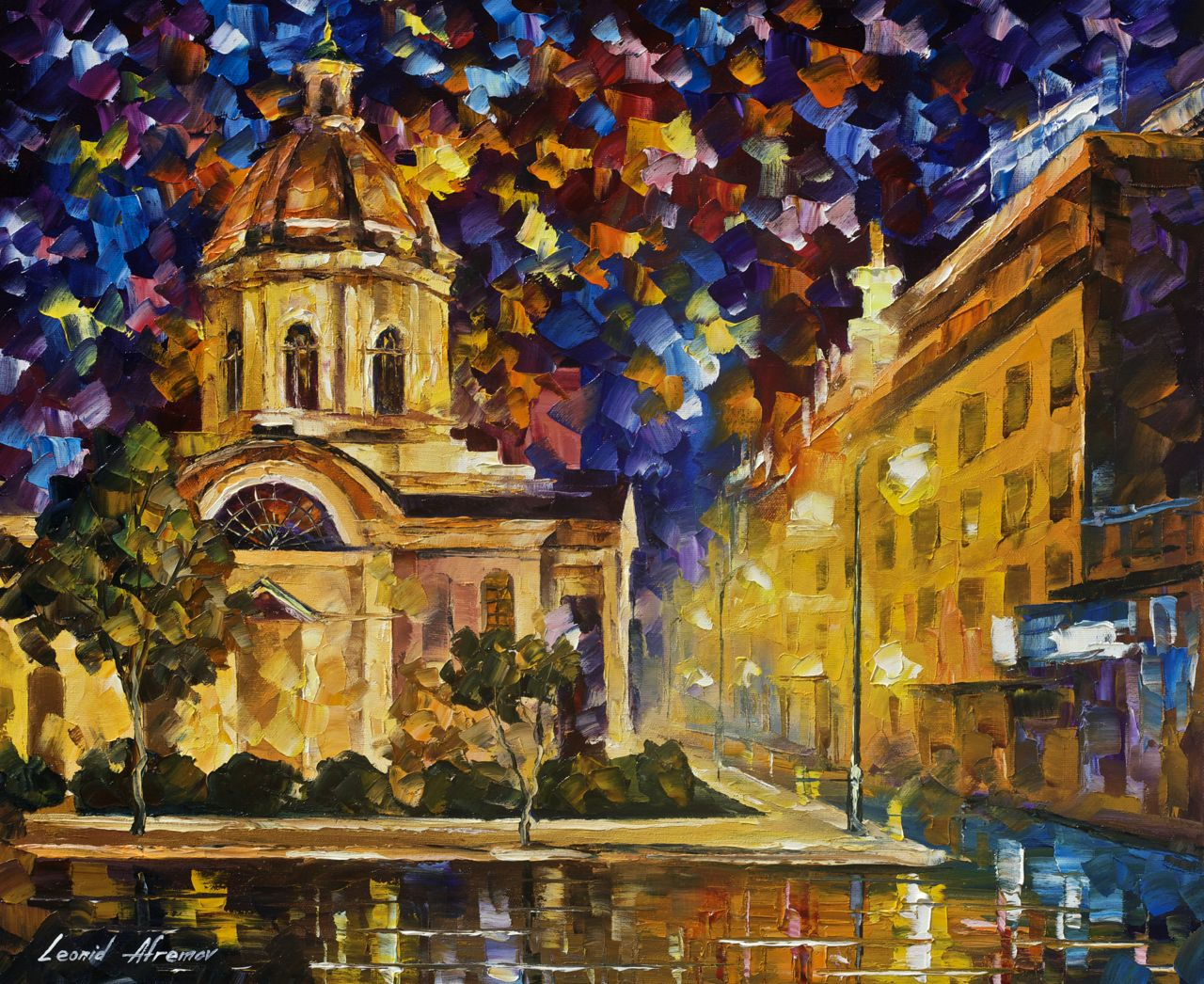 Asunción Paraguay — PALETTE KNIFE Oil Painting On Canvas ...