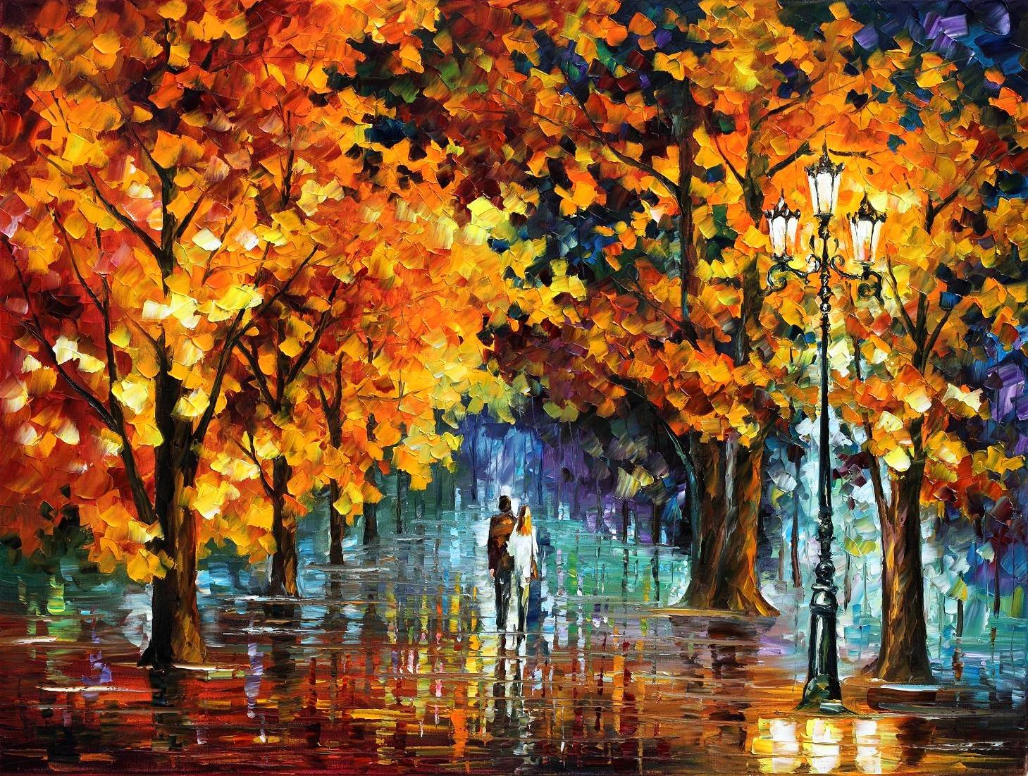 THE TEARS OF ANGELS — PALETTE KNIFE Oil Painting On Canvas By Leonid Afremov - Size 120x100
