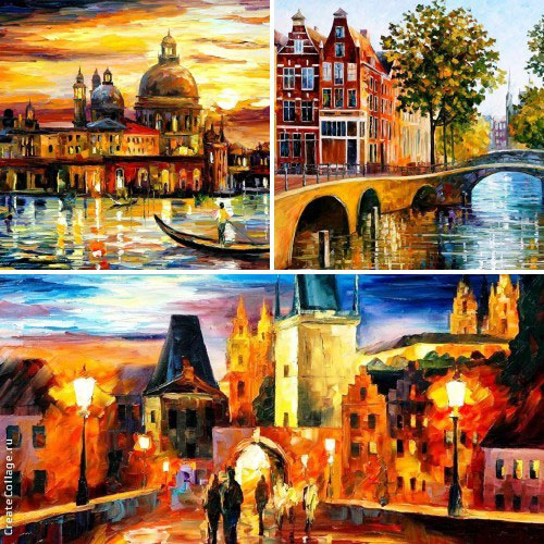 My 3 most favorite Cityscape paintings