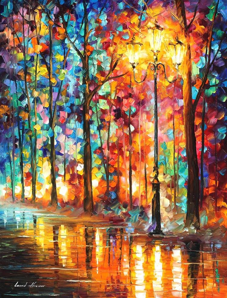 "MAGICAL GLOW - Palette Knife Oil Painting On Canvas By Leonid Afremov - 30""X40"""
