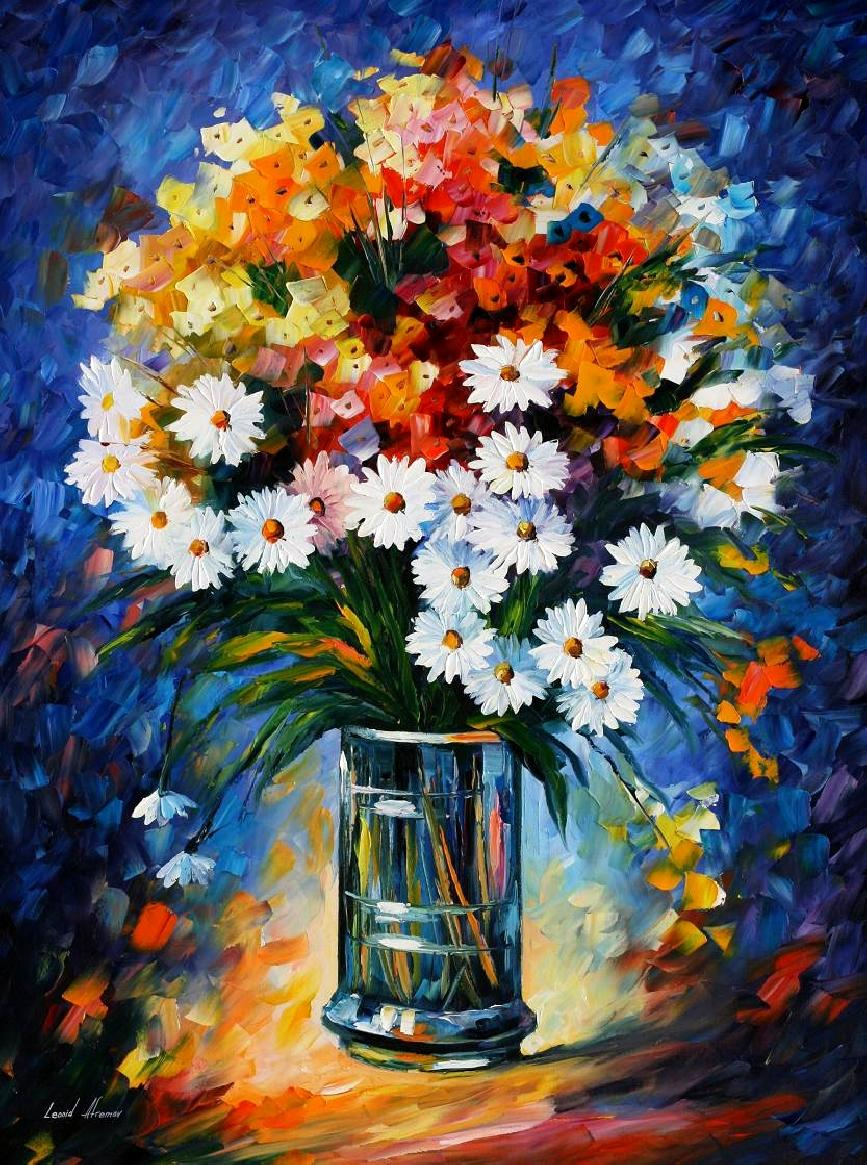 Leonid afremov oil on canvas palette knife buy original for Real art for sale