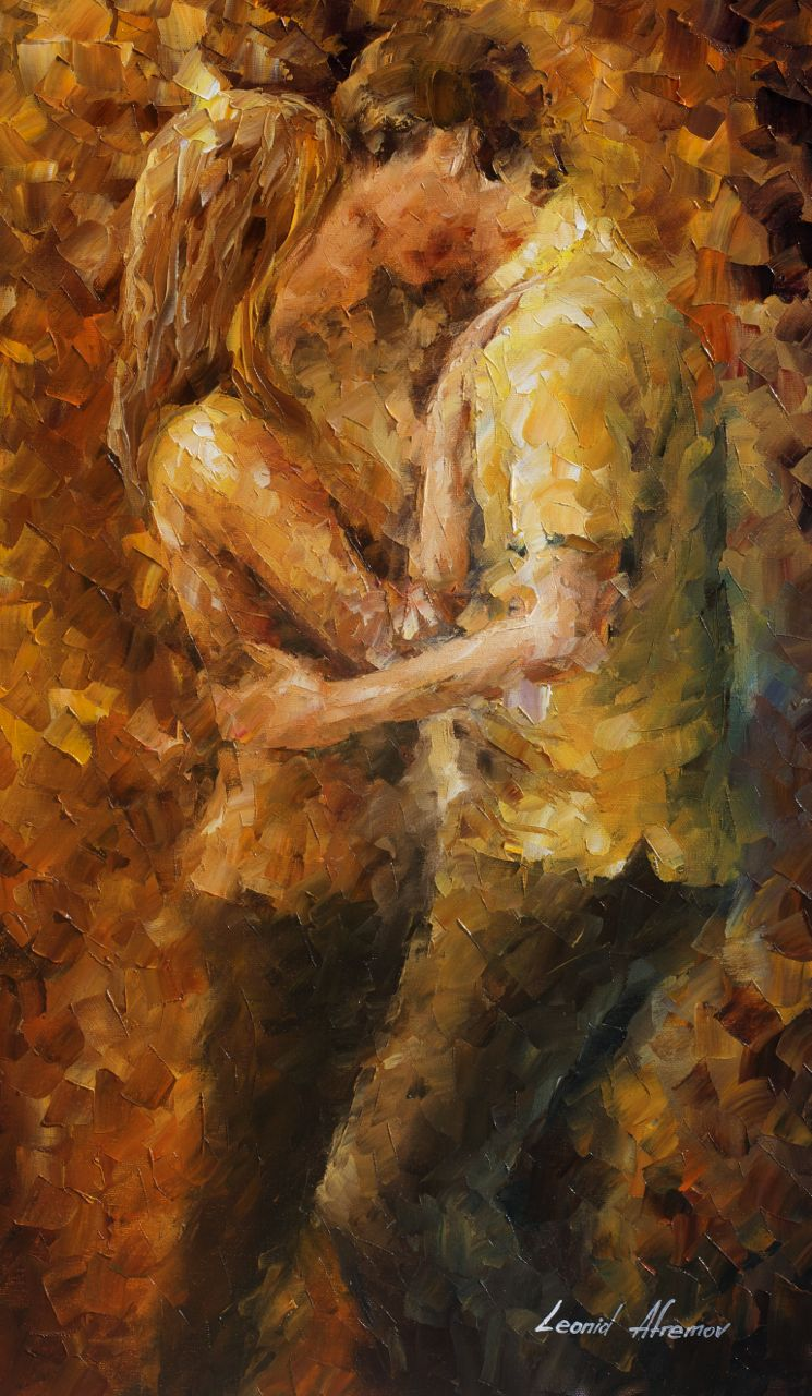Leonid Afremov Paint Oil Impressionism Abstract Couple Love Goodbye Man Woman Boyfriend Girlfriend Figure Beauty New Original Collection