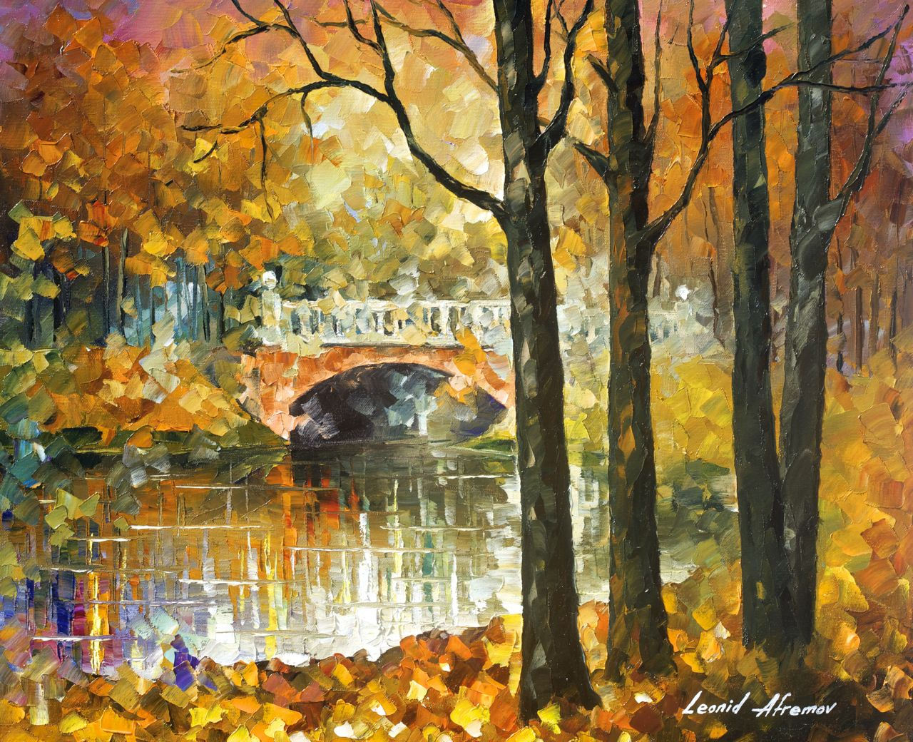LOVE IN THE AIR - Original Oil Painting On Canvas By Leonid Afremov ...