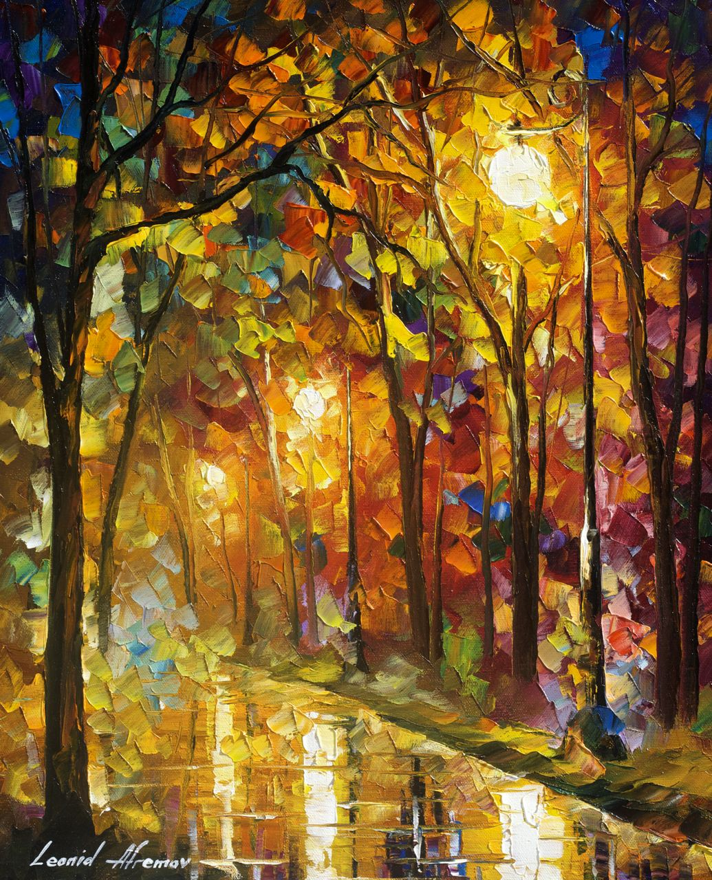 "COLOR OF SOPHISTICATION - Original Oil Painting On Canvas By Leonid Afremov - 16""X20""  (40cm x 50cm)"