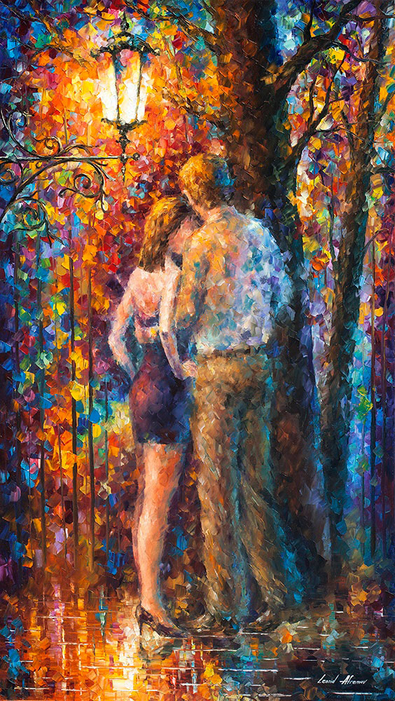 "FEELINGS OF LIGHT  - Original Oil Painting On Canvas By Leonid Afremov - 32""X57"""