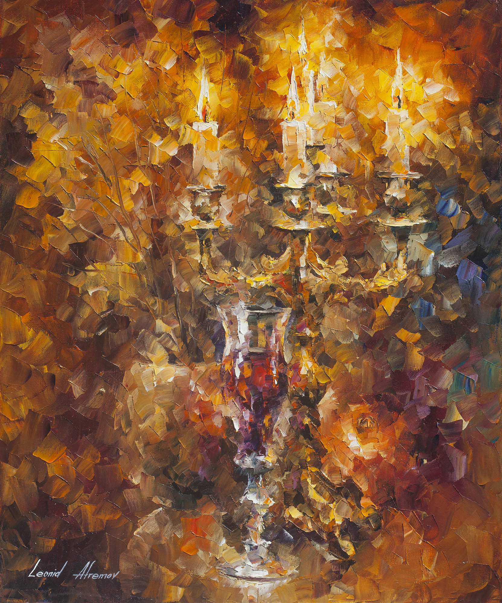 "GLASS OF WINE - Original Oil Painting On Canvas By Leonid Afremov - 20""X24"""