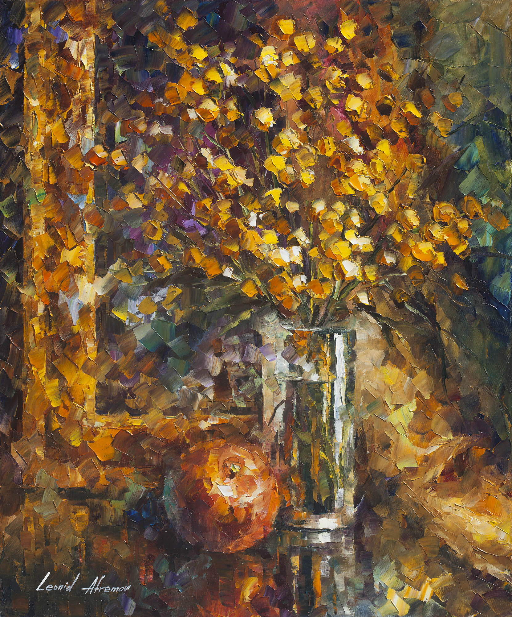 "APPLE OF WISDOM - Original Oil Painting On Canvas By Leonid Afremov - 20""X24""  (50cm x 60cm)"