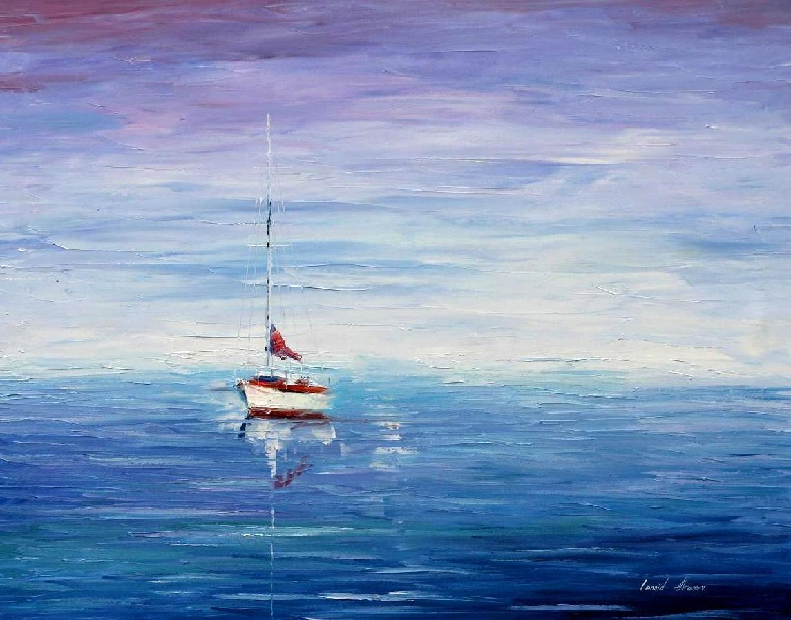 Calm Beauty Palette Knife Oil Painting On Canvas By