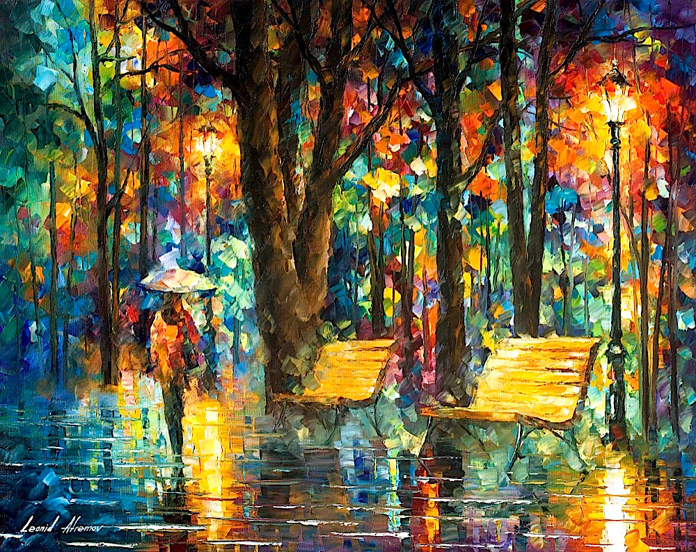 "FORGOTTEN LOVE - Original Oil Painting On Canvas By Leonid Afremov - 30""X24"""